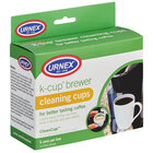 Urnex 25-CLNCP5-7 K-Cup® Single Cup Coffee Brewer Cleaning Cups - 5/Box
