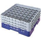 Cambro 49S1114168 Blue Camrack Customizable 49 Compartment 11 3/4 inch Glass Rack