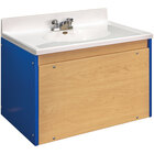 Tot Mate TM8350A.S3322 Royal Blue and Maple Single Laminate Floor Vanity - 31 inch x 21 inch x 21 1/2 inch