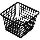 American Metalcraft FBBS44 4 inch x 4 inch x 3 inch Black Powder-Coated Iron Square Mini Fry Basket