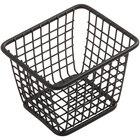 American Metalcraft FBBR4 4 1/8 inch x 3 3/8 inch x 3 inch Black Powder-Coated Iron Rectangular Mini Fry Basket