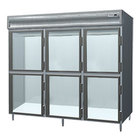 Delfield SMH3-GH 78.89 Cu. Ft. Glass Half Door Three Section Reach In Heated Holding Cabinet - Specification Line