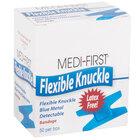 Blue Woven Adhesive Knuckle Bandage   - 50/Box