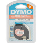 DYMO 91330 LetraTag 1/2 inch x 13' White Paper Label Tape