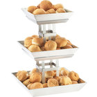 Cal-Mil 1563-3 Mission Three-Tiered Aluminum Ice Display
