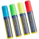 American Metalcraft SMA720V4 Securit All-Purpose Big Tip Assorted Color Chalk Marker Set - 4/Pack