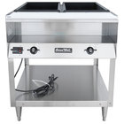Vollrath 38002 ServeWell Electric Two Pan Hot Food Table 120V - Sealed Well