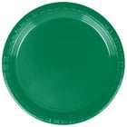 Dart Solo PS75G-0099 7 inch Green Plastic Plate - 500/Case