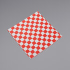 American Metalcraft PPCH3R 12 inch x 12 inch Red Check Basket Liner / Deli Wrap Paper - 1000/Pack
