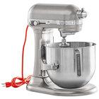 KitchenAid KSM8990NP Silver 8 Qt. Bowl Lift Countertop Mixer with Standard Accessories - 120V, 1 3/10 hp
