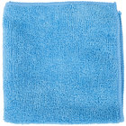 12 inch x 12 inch Blue Microfiber Cleaning Cloth - 12 / Pack