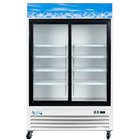 "Avantco GDS-47 53"" Sliding Glass Door White Merchandiser Refrigerator with LED Lighting"