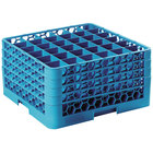 Carlisle RG36-414 OptiClean 36 Compartment Glass Rack with 4 Extenders