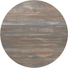 BFM Seating 2CS36R Relic 36 inch Round Chestnut 2 inch Thick Melamine Table Top with Matching Edge