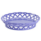 GET RB-860-PB Peacock Blue Round 10 1/2 inch Plastic Fast Food Basket - 12/Pack