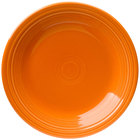 Homer Laughlin 466325 Fiesta Tangerine 10 1/2 inch Dinner Plate - 12 / Case