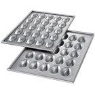Chicago Metallic 47255 Glazed Aluminized Steel 25 Mold Mini Easter Egg / Football Elliptical Cake Pan Set