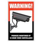 Cosco 098381 12 inch x 8 inch Surveillance Sign