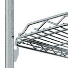 Metro HDM1436Q-DSH qwikSLOT Drop Mat Silver Hammertone Wire Shelf - 14 inch x 36 inch