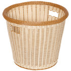 GET WB-1522-TT Designer Polyweave Plastic Round Basket 14 inch x 13 inch - 6/Pack