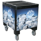 IRP 2000 Black Ice Caddy 200 lb. Mobile Ice Bin / Beverage Merchandiser