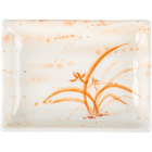 Thunder Group 2406 Gold Orchid 8 oz. Rectangular Melamine Wave Plate - 12/Pack