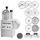 Robot Coupe CL50 Ultra Restaurant Dice Continuous Feed Food Processor with 9 Discs, Dice Cleaning & Wall Holder Kits - 1 1/2 hp