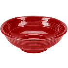 Homer Laughlin 765326 Fiesta Scarlet 2 Qt. China Pedestal Serving Bowl - 4/Case