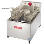 Cecilware EL-170 Stainless Steel Commercial Countertop Electric Deep Fryer with 4 inch Legs and 15 lb. Fry Tank - 1800W