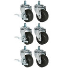 Beverage Air 61C01-012A 3 inch Replacement Casters for DP119, UCR119A and WTR119A - 6/Set