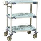 "Metro MXUC1830G-35 MetroMax i 3 Shelf Utility Cart with 5"" Polyurethane Casters 18"" x 30"""