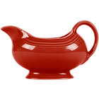 Homer Laughlin 486326 Fiesta Scarlet 18.5 oz. China Sauce / Gravy Boat - 4/Case