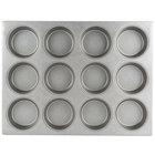 Chicago Metallic 44215 12 Cup Glazed Oversized Customizable Mini-Cake Muffin Pan - 15 1/2 inch x 20 1/2 inch