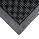 Cactus Mat 35-3672 Finger Top 36 inch x 72 inch Black Anti-Fatigue Rubber Entrance Mat - 5/8 inch Thick