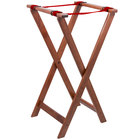 Lancaster Table & Seating 18 1/2 inch x 16 1/4 inch x 32 inch Folding Wood Tray Stand Light Brown