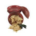 HS Inc. HS1018 9 inch x 2 1/4 inch Paprika Polyethylene Round Weave Basket - 24/Case