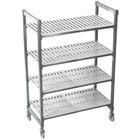 Cambro CPMU184867V4480 Camshelving® Premium Mobile Shelving Unit with Premium Locking Casters 18 inch x 48 inch x 67 inch - 4 Shelf