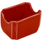Homer Laughlin 479326 Fiesta Scarlet 3 1/2 inch x 2 3/8 inch Sugar Caddy - 12/Case