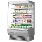 Turbo Air TOM-48DXS-N 48 inch Stainless Steel Extra Deep Vertical Open Display Case