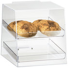 Cal-Mil 280 Classic Two Tier Acrylic Display Case with Rear Door - 10
