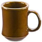 Brown Bell Shaped 7 oz. China Coffee Mug - 36/Case