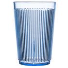Carlisle 401054 9.5 oz. Blue Crystalon Stack-All SAN Plastic Tumbler - 12/Case