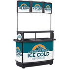 IRP 3801067 256 Qt. Illuminated Tri-Canopy Beverage Cart with Ice Cold Beverages Graphic