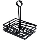 Choice Flat Coil Rectangular Wrought Iron Condiment Caddy - 7 7/8