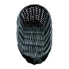 Tablecraft 2417 Black Oblong Rattan Basket 9 inch x 3 1/2 inch x 2 inch 12 / Pack