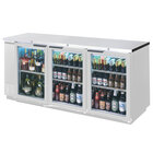 Beverage-Air BB72HC-1-F-G-PT-S-27 72 inch Stainless Steel Counter Height Glass Door Food Rated Pass Through Back Bar Refrigerator