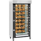 Rotisol-France GrandFlame GF975-8G-SSP Natural Gas Rotisserie with 8 Spits - 82,000 BTU