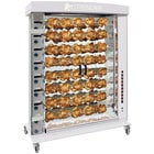 Rotisol-France FauxFlame FF1425-8G-SS Stainless Steel Natural Gas Rotisserie with 8 Spits - 121,000 BTU