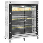 Rotisol-France GrandFlame GF1675-8G-SSP Natural Gas Rotisserie with 8 Spits - 175,000 BTU