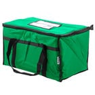Choice Insulated Food Delivery Bag / Pan Carrier, Green Nylon, 23